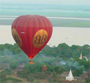 survol de bagan en ballon air chaud