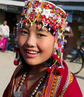 Young woman from Chin ethnic group in Hakka (north Chin State)